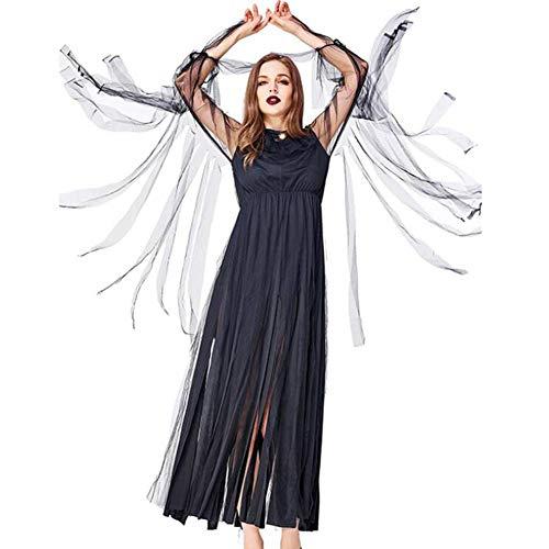 Karneval Böse Kostüm - ASDF Halloween Karneval böse Hexe Kostüm Schwarze Fransen Kleid Party Party Hosting