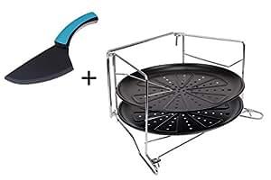 gr we pizzablech set mit backofen gestell 4 tlg k che haushalt. Black Bedroom Furniture Sets. Home Design Ideas