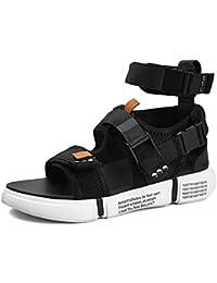 YSFU Sandalias de hombre Zapatos para Hombre De Verano Sandalias Plataforma De Punta Abierta Sandalias De