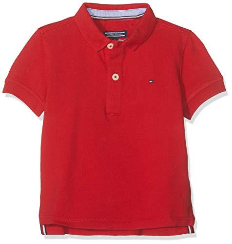 Tommy Hilfiger Boys Tommy Polo S/s, Rojo (Apple Red 600), 122 (Talla del Fabricante: 7) para Niños