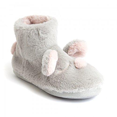Koo-t, Pantofole Da Donna Coniglietto Grigio