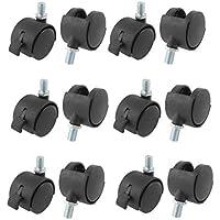 DealMux a15042400ux0074 1,5 Twin Rad 3/8 Gewindezapfen Brems Swivel Nylon Fußrollen (10 Stück)