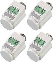 komforthaus - Set de termostatos para calefacción tipo Classic  L (modelo silencioso, para 4 habitaciones, incluye tuerca de metal estable)