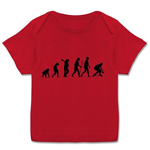 Skateboard-baby-kleidung (Shirtracer Evolution Baby - Skateboard Evolution - 56-62 (2-3 Monate) - Rot - E110B - Kurzarm Baby-Shirt für Jungen und Mädchen in Verschiedenen Farben)