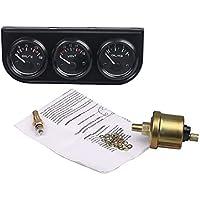 Eleganantamazing - Sensor de presión de Aceite para Coche, 12 V, 3 en 1