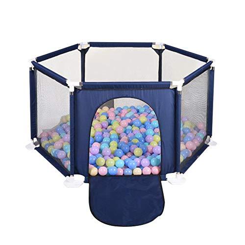 Zaun Kinder im Freien sechsseitige Zaun Farbe Ball Pool Zelt Spiel Haus Spielplätze Zaun mit Tür für Babys Playtents Ball Pools Sicherheitsbarriere Pools für Kinder Kleinkinder ()