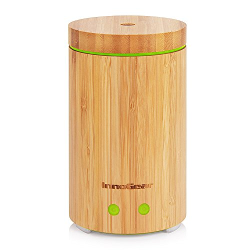 InnoGear-Real-Bamboo-Essential-Oil-Diffuser-160ml-Ultrasonic-Aromatherapy-Diffusers-Cool-Mist-Humidifier-with-7-LED-Colorful-Lights-and-Waterless-Auto-Shut-off