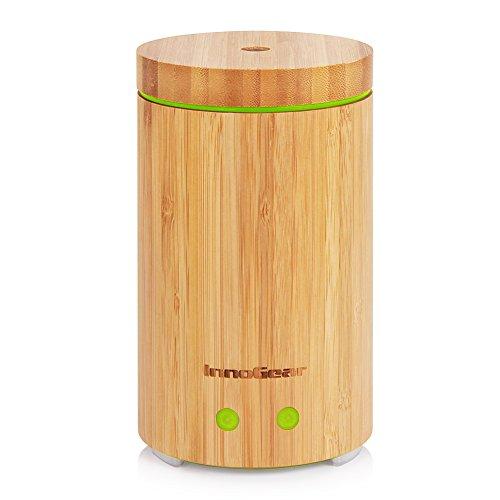 InnoGear echtem Bambus Aroma Diffuser Ultraschall Luftbefeuchter Ätherischesöl Aromatherapie Diffusor mit 7 farbigen LED Lichter und falls wasserlos schaltet es sich automatisch aus