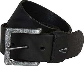 camel active Leather Belt - 110X4.5, Black