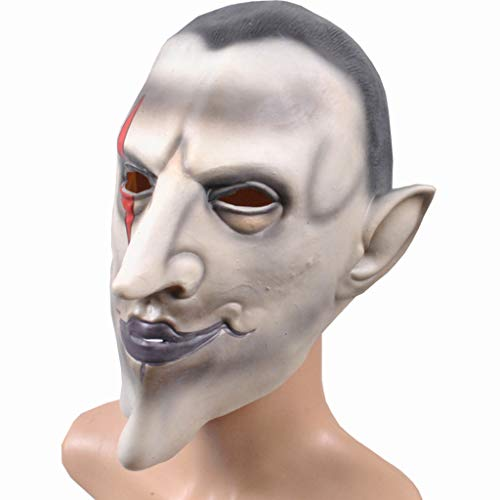YKQ WS Halloween Kostüm Latex Maske Horror Hölle Männlich Earl Scary Dekoration Requisiten