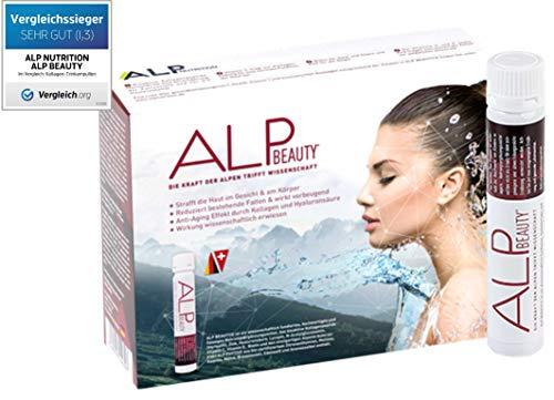 ALP BEAUTY Kollagen Trinkampullen 14x25 ml Collagen Hydrolysat Hyaluron zum Trinken - antiaging antifalten Hautstraffung
