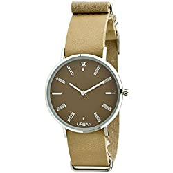 URBAN Steel Watch Zzero zu009c Quandrante Quartz Brown Leather Strap