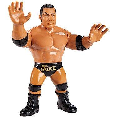 WWE – FJG55 – The Rock – Actionfigur im Retro Look Wwe The Rock Mattel