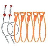 ATPWONZ 7 pcs Ablauf Schlange Haar Ablauf Verstopfen Entferner Reinigung Tool für Küche/Waschbecken