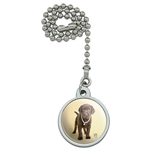Grafiken und Mehr Schokolade Lab Labrador Puppy Hund Kette Halskette Krone und Deckenleuchte Fan Light Pull