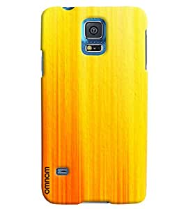 Omnam Yellow Lines Effect Printed Designer Back Cover Case For Samsung Galaxy S5