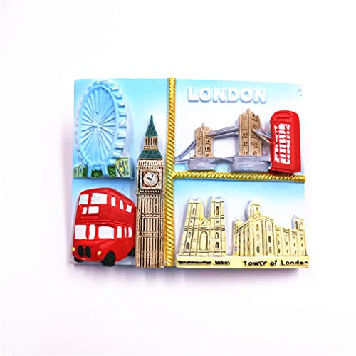 Bella Magnet Frigo Aimant Frigo Aimant Réfrigérateur Voyage Vacances Souvenir de Royaume-Uni Big Ben London Eye Buckingham Palace Bus Fridge Magnet Sticker Décor Maison