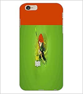PrintDhaba Girl Image D-2999 Back Case Cover for APPLE IPHONE 6 (Multi-Coloured)