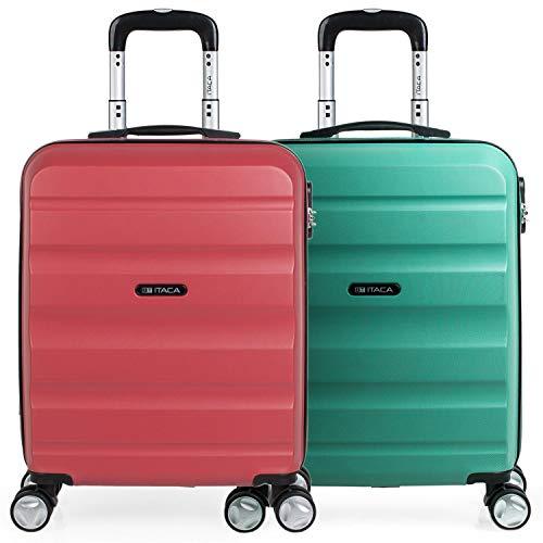 ITACA - Pack 2 Maletas Viaje Rígidas 4 Ruedas 55x40x20