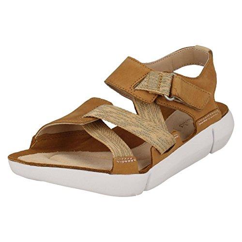 Clarks Tri Klee Womens Sportliche Sandale 6.5 D (M) UK/40 EU Tan Combi (Sandalen 2013)