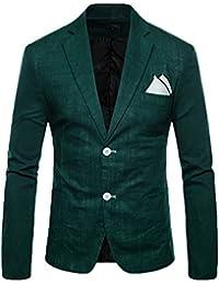 Giacca Blazer Da Uomo Casual Elegante Slim Fit Tops Blazers Solido Cappotto  Outwear Verde Scuro XL 76ae322d20e