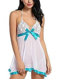 b8ecd0f0c Billebon- Baby Doll Lingerie Sleepwear Dress for Women Ladies Girls  Nightwear with G
