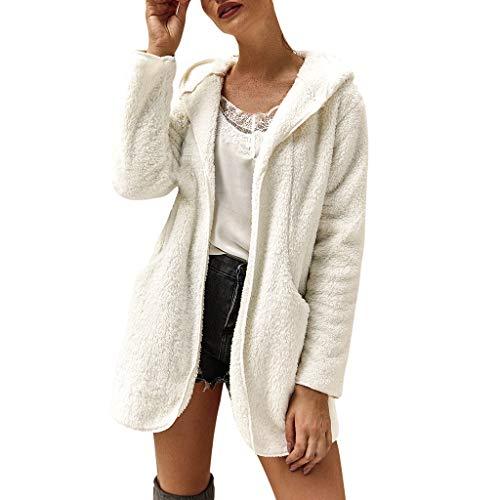 Tohole Frauen Sweatshirt Mantel Winter Reißverschluss Taschen Baumwolle Mantel Outwear Langarmshirt...