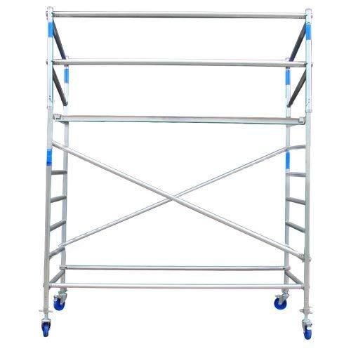 Gerüst arbeitsbühne Alu auf Rollen, Arbeitshöhe ist 8,3 M - Gerüst von Aluminium und fahrbar (Aluminium, 4.3 Meter arbeitshöhe)