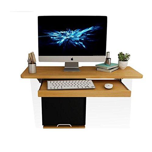 DEO Bureau d'ordinateur Ordinateur portable portatif mural Bureau d'ordinateur Bureau en bois Ordinateur portable étudiant table de lecture durable (taille : 120cm)