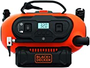 Black+Decker 18V/12V 160PSI/11 Bar Cordless/Corded Multi-Purpose Air Compressor Inflator with Nozzles for Car,