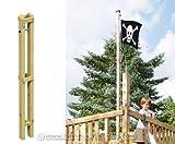 Fahnenmast Halter mit Führungsschraube, 140cm - für Spieltürme Garten, Kinderspieltürme