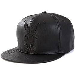 THENICE Mujer Cuero sintético Cap Gorras De Béisbol (rabbit)
