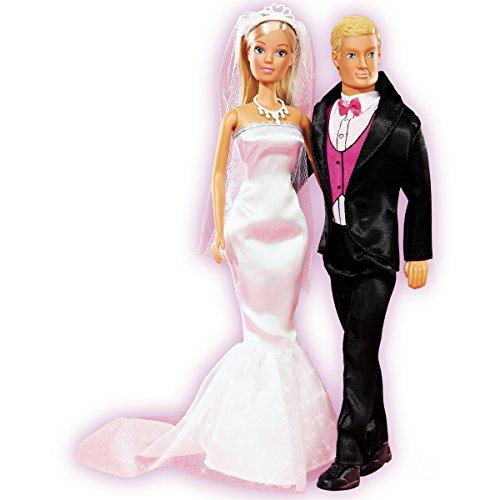 Steffi Love und Kevin Wedding Day, Ankleidepuppen: Hochzeit Anzieh Ankleide Puppe in Barbie-Größe mit Puppen Kleidung (Braut Kleidung Puppe)
