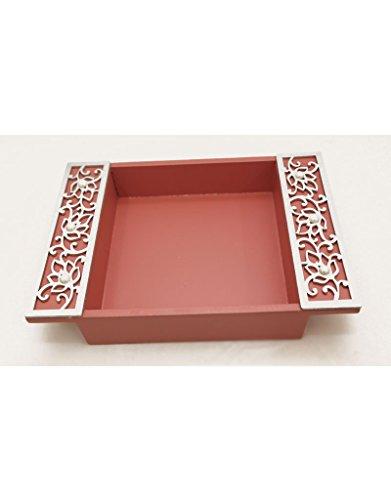 funktionz emballage cadeau en bois découpé au Laser et Set Plateau (Plateau Rose et Argent Détail Découpé au laser)