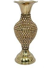 Eudora Flower Vase for Home Decor| Material - Brass Metal|Dimensions- L*B- 25x10.5 in cms| Color- Golden|