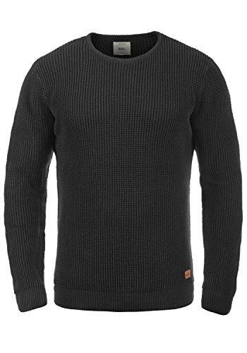 REDEFINED REBEL Maxwell Herren Pullover Strickpulli Rundhals Black