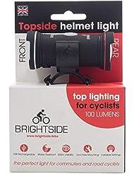 """Linterna dual para casco de bicicleta """"Topside"""", recargable"""