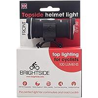 Topside 100 Lumen Bike Helmet Light - Dual Front & Rear Bike Light. USB Rechargeable & Waterproof