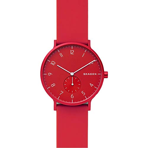 Skagen Unisex Adult Analogue Quartz Watch with Silicone Strap SKW6512 Best Price and Cheapest