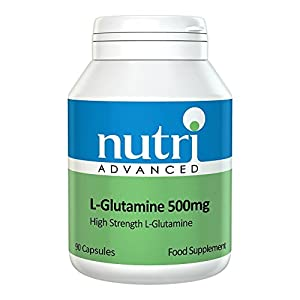 41z566RWOQL. SS300  - L-Glutamine 500mg 90 Caps by Nutri Advanced - High Strength Amino Acid