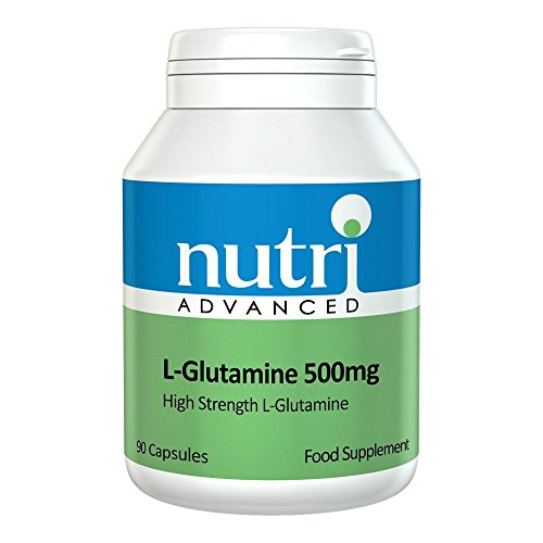 41z566RWOQL. SS500  - L-Glutamine 500mg 90 Caps by Nutri Advanced - High Strength Amino Acid