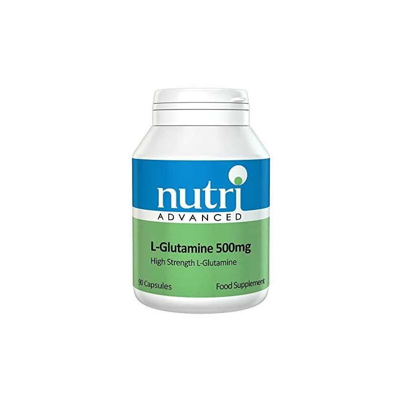 L-Glutamine 500mg 90 Caps by Nutri Advanced – High Strength Amino Acid