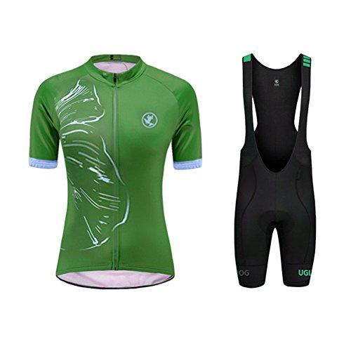 Uglyfrog Wear Designs Deutschland Trikot Radtrikot Damen Kurzarm+Trägerhosen 3D Gel Pad Kit Sommer Style Rennrad Bekleidung
