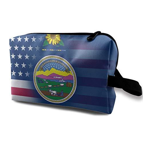 USA Kansas State Flag Kleine Kosmetiktaschen Reise Make-up Tasche Modischer Organisator -