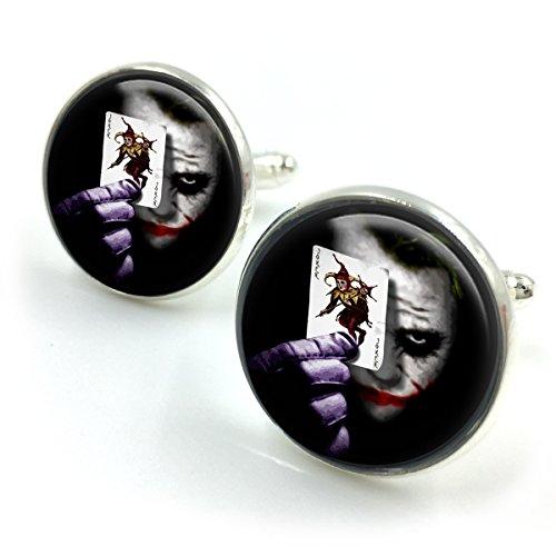 Antike Bronze Die Joker Manschettenknöpfe  Joker  Batman  Selbstmordkommando  Harley Quinn  der Joker  DC-Comics