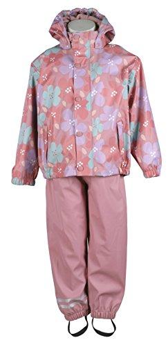 mikk-line Unisex Baby Jacke PU Rainwear-Set Regenhose und Regenjacke Wassersäule 8012, Mehrfarbig (Dusty Rose 516), 74