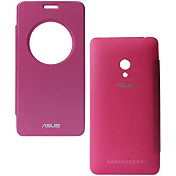 DMG Circle Window Flip Book Cover Case for Asus Zenfone 6 (Magenta)