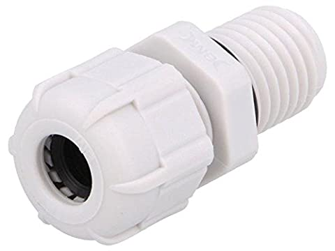 2x BM4912L Cable gland with long thread M12 IP68 Mat polyamide grey BM GROUP