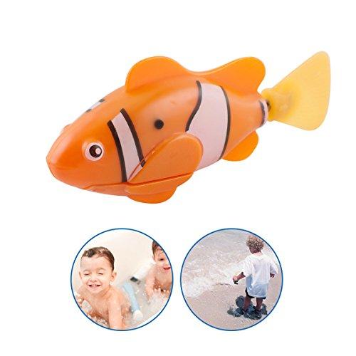 Scenstar Robo-Fisch Clownfisch Lebensechte Bewegungen, Auf- und Abtauchen | Wasserspaß für Kinder | elektronisches Wasser-Spielzeug Deep Sea Wimplefish, elektronisches Haustier bunt - 5