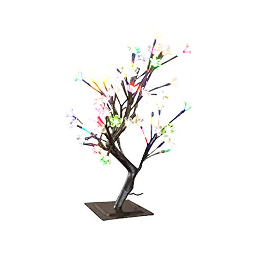Bonsai Baum Licht Lampe 48LED Flexible Zweige Baumlicht für Haus Dekoration Tischlampe 50cm (Bunt)